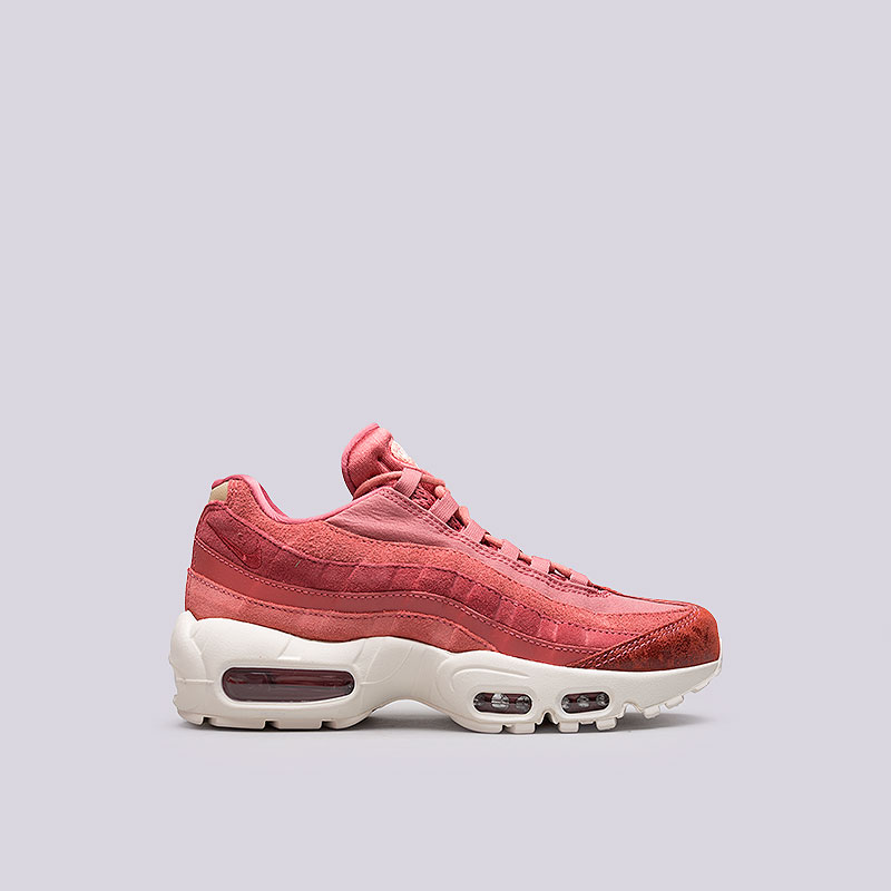 Кроссовки Nike WMNS Air Max 95 PRMКроссовки lifestyle<br>Кожа, синтетика, текстиль, резина, пластик<br><br>Цвет: Красный<br>Размеры US: 6.5;7;7.5;8;8.5<br>Пол: Женский