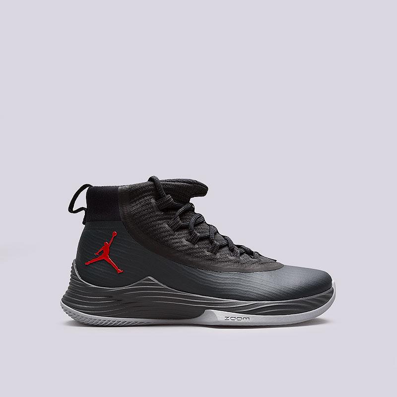 Кроссовки Jordan Ultra Fly 2Кроссовки баскетбольные<br>Пластик, текстиль, резина<br><br>Цвет: Чёрный<br>Размеры US: 8;9;9.5<br>Пол: Мужской