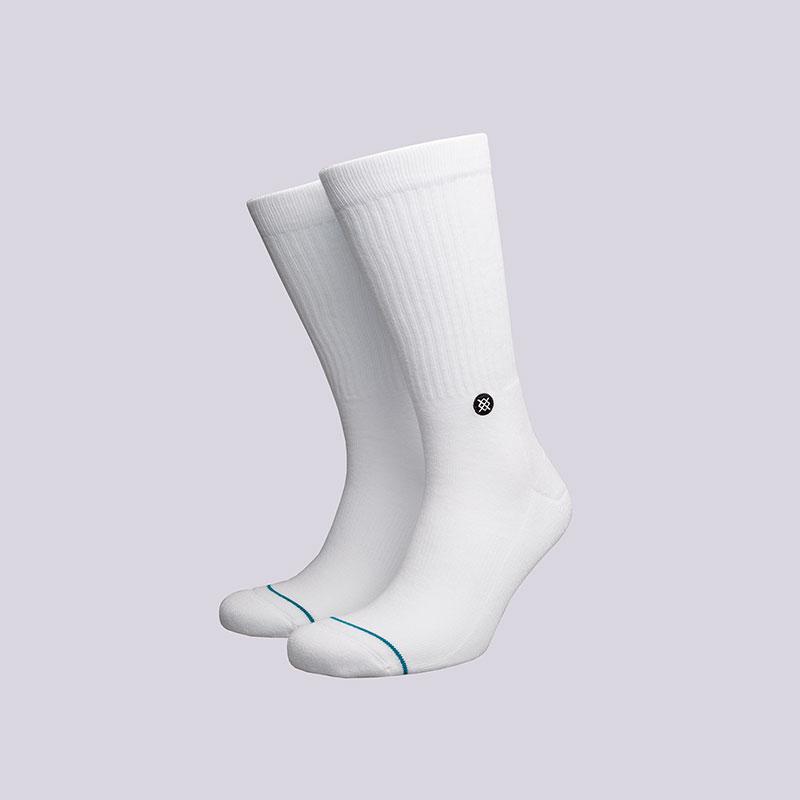 Носки Stance IconНоски<br>Хлопок, эластан<br><br>Цвет: Белый<br>Размеры : L<br>Пол: Мужской