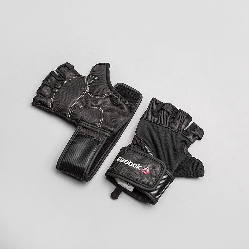 Перчатки для фитнеса Reebok OS TRAINING WRIST GПерчатки<br>Полиэстер, нилон, эластан<br><br>Цвет: Черный<br>Размеры US: S