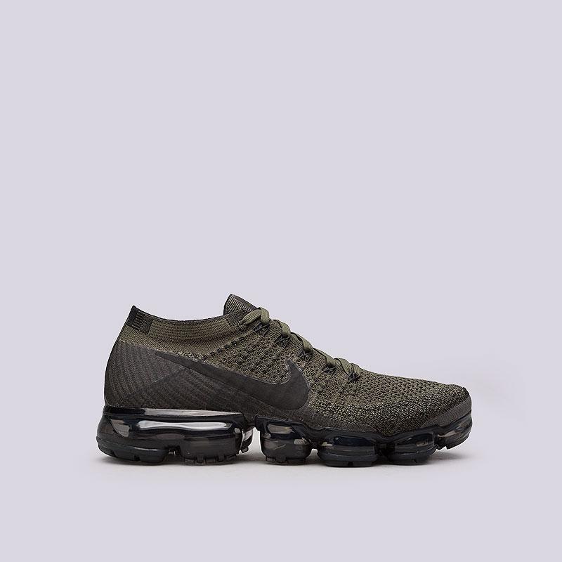 Кроссовки Nike Air Vapormax FlyknitКроссовки lifestyle<br>Пластик, текстиль, резина<br><br>Цвет: Зелёный<br>Размеры US: 6.5<br>Пол: Мужской