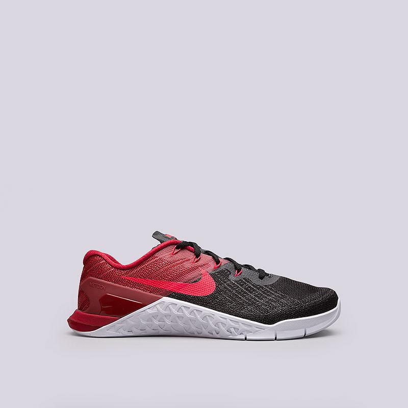 Кроссовки Nike Metcon 3Кроссовки lifestyle<br>Текстиль, пластик, резина<br><br>Цвет: Чёрный<br>Размеры US: 8;8.5;9;9.5;10;10.5;11;11.5;12<br>Пол: Мужской