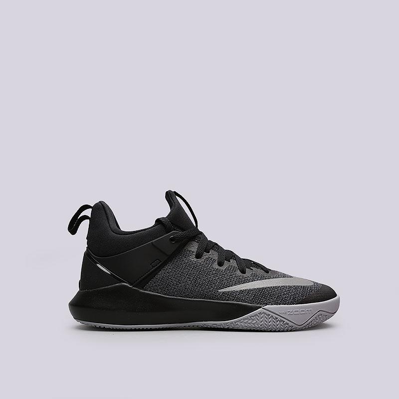 Кроссовки Nike Zoom ShiftКроссовки баскетбольные<br>Текстиль, пластик, резина<br><br>Цвет: Чёрный<br>Размеры US: 7.5;8;8.5;9;9.5;10;10.5;11;11.5;12;12.5;14<br>Пол: Мужской