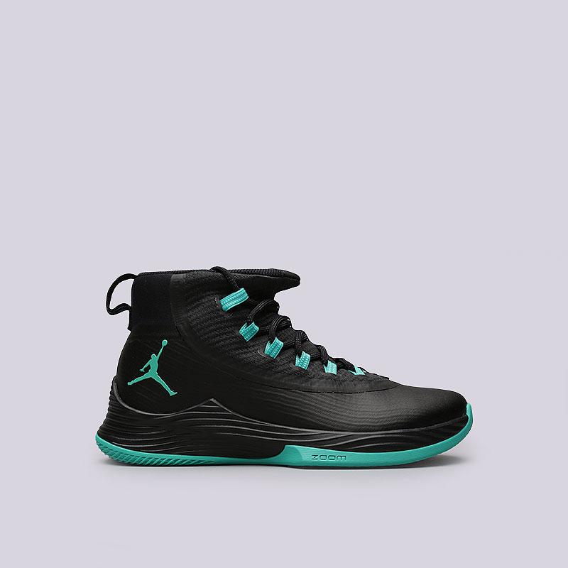 Кроссовки Jordan Ultra Fly 2Кроссовки баскетбольные<br>Пластик, текстиль, резина<br><br>Цвет: Черный<br>Размеры US: 8<br>Пол: Мужской