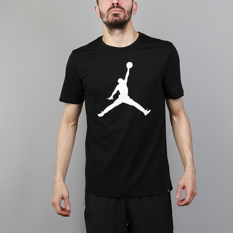 Футболка Jordan Iconic Jumpman TeeФутболки<br>100% хлопок<br><br>Цвет: Черный<br>Размеры US: M;XL<br>Пол: Мужской