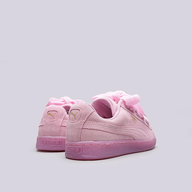 c71c3050b356 женские розовые кроссовки puma suede heart reset wn s 36322902 - цена,  описание, фото 3