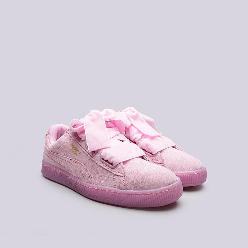 8943c0fc83eb женские розовые кроссовки puma suede heart reset wn s 36322902 - цена,  описание, фото 4
