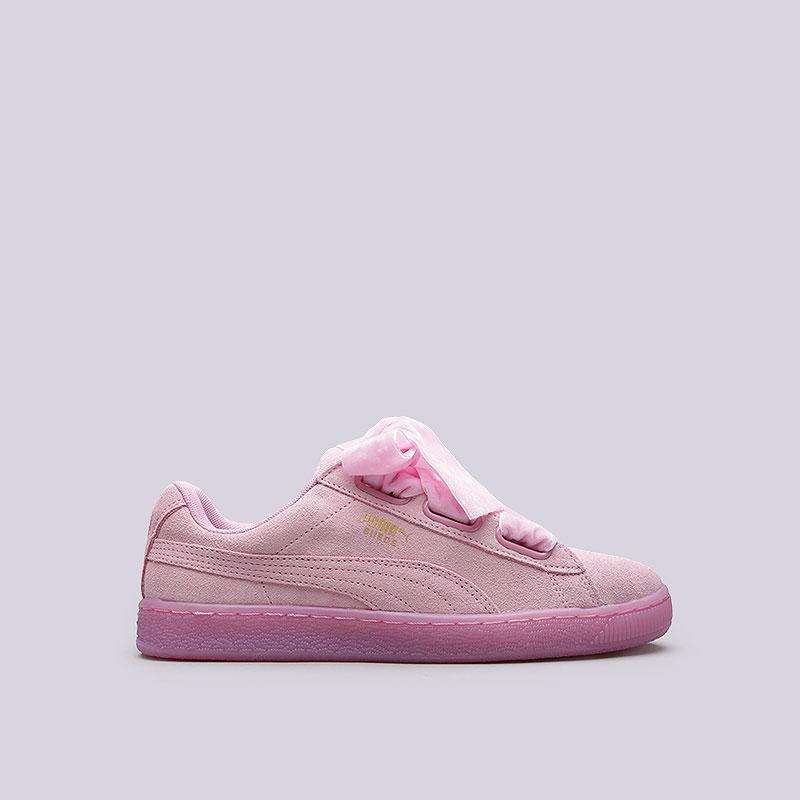 80bb5733db39 женские розовые кроссовки puma suede heart reset wn s 36322902 - цена,  описание, фото 1