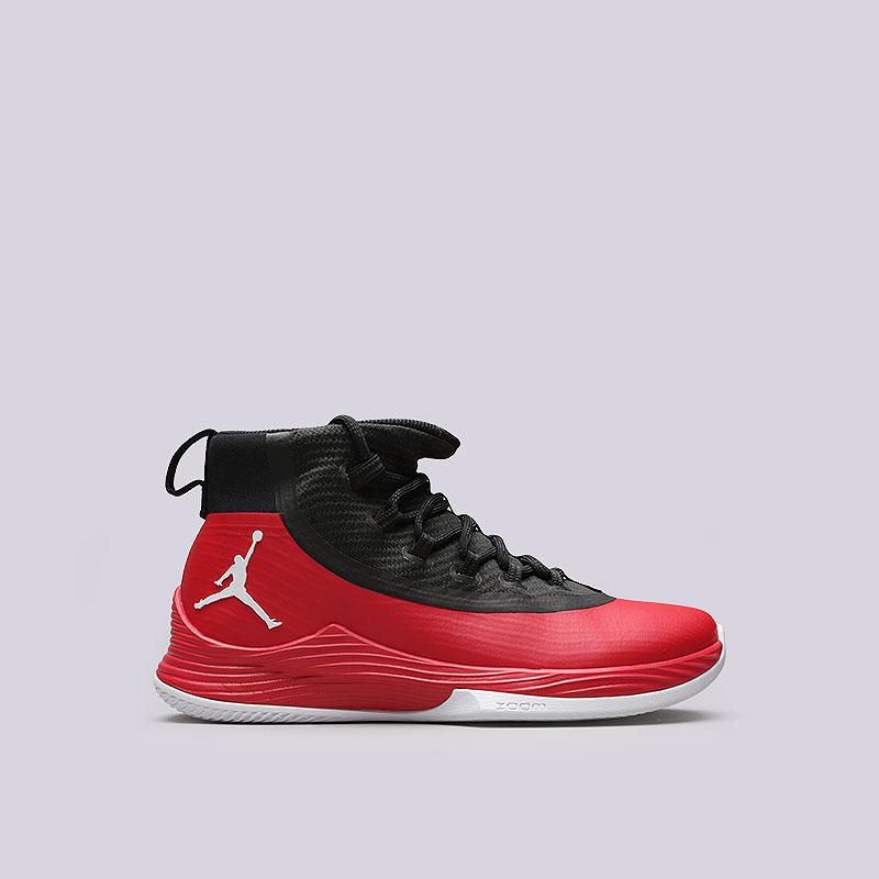 Кроссовки Jordan Ultra Fly 2Кроссовки баскетбольные<br>Пластик, текстиль, резина<br><br>Цвет: Красный<br>Размеры US: 8;8.5;9;9.5;12<br>Пол: Мужской