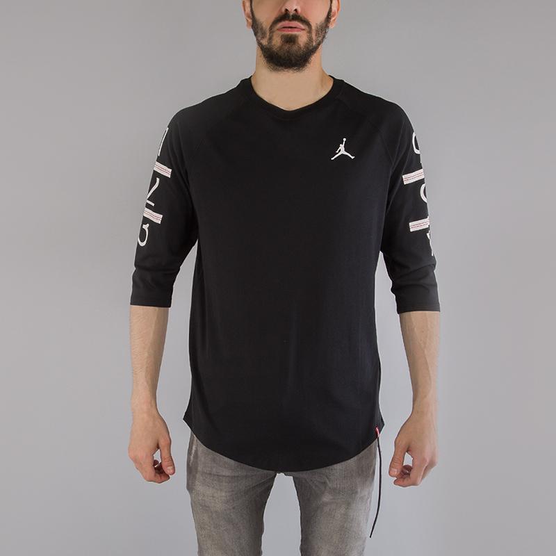 мужскую черную футболка jordan 6 times raglan 862423-010 - цена, описание,  фото fca121e49cc