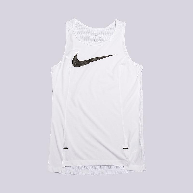 Майка Nike Dry Elite Womens Basketball TankБезрукавки<br>75% полиэстер, 13% злопок, 12% вискоза<br><br>Цвет: Белый<br>Размеры US: XS;S;M;L<br>Пол: Женский