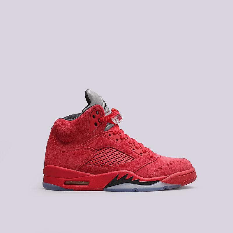 Кроссовки Jordan V RetroКроссовки lifestyle<br>Кожа, текстиль, пластик, резина<br><br>Цвет: Красный<br>Размеры US: 8<br>Пол: Мужской