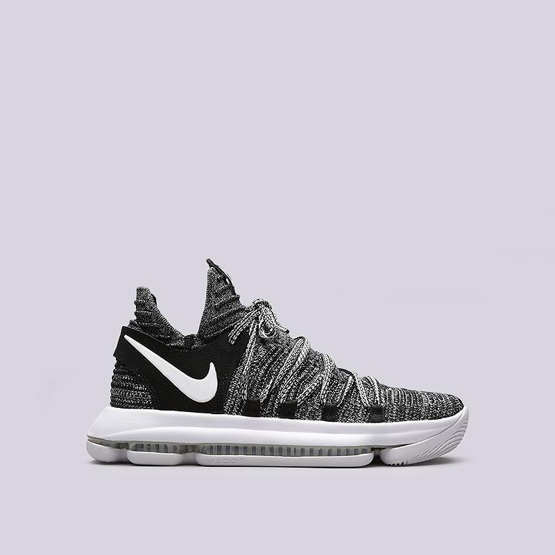 Кроссовки Nike Zoom KD 10Кроссовки баскетбольные<br>Текстиль, резина<br><br>Цвет: Черный<br>Размеры US: 7;8.5;9<br>Пол: Мужской