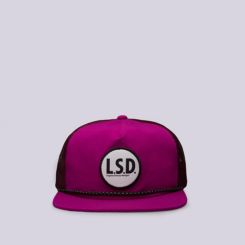 Кепка Stussy Nylon LSD Trucker CapКепки<br>50% нейлон, 50% полиэстер<br><br>Цвет: Розовый<br>Размеры US: OS