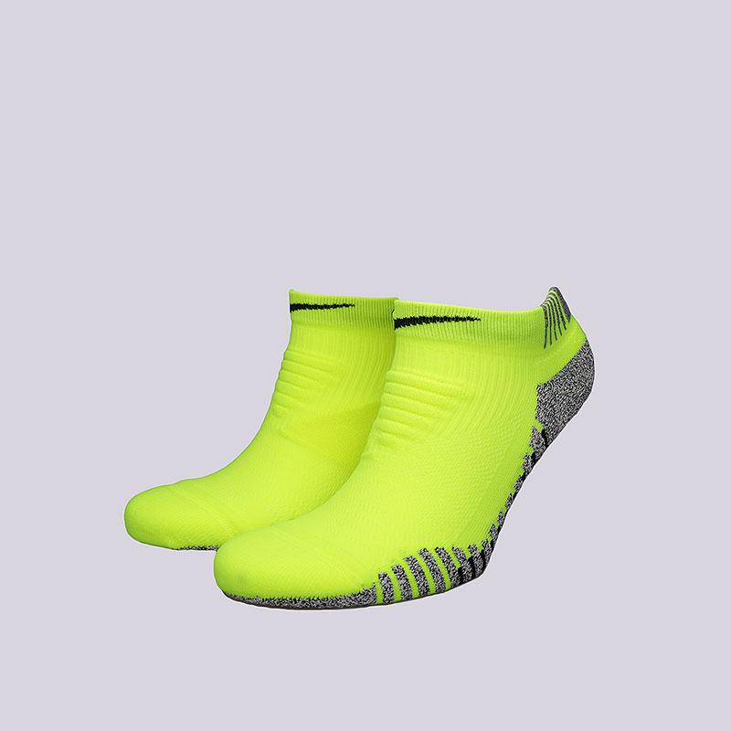 Носки Nike Nikegrip Lightweight LowНоски<br>Нейлон, полиэстер, эластан<br><br>Цвет: Салатовый<br>Размеры US: M;L<br>Пол: Мужской