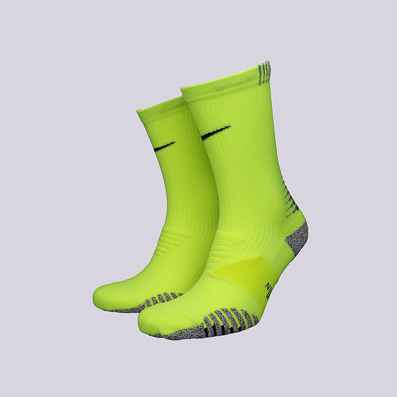 Носки Nike Grip Lightweight CrewНоски<br>Хлопок, нейлон, эластан<br><br>Цвет: Салатовый<br>Размеры US: M;L<br>Пол: Мужской