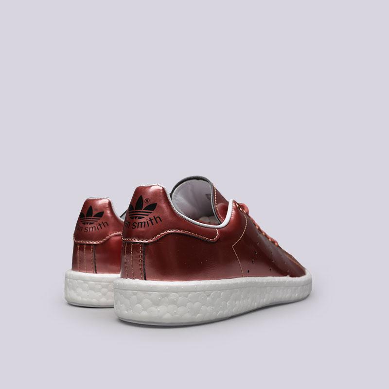 женские бордовые  кроссовки adidas stan smith w BB0107 - цена, описание, фото 3