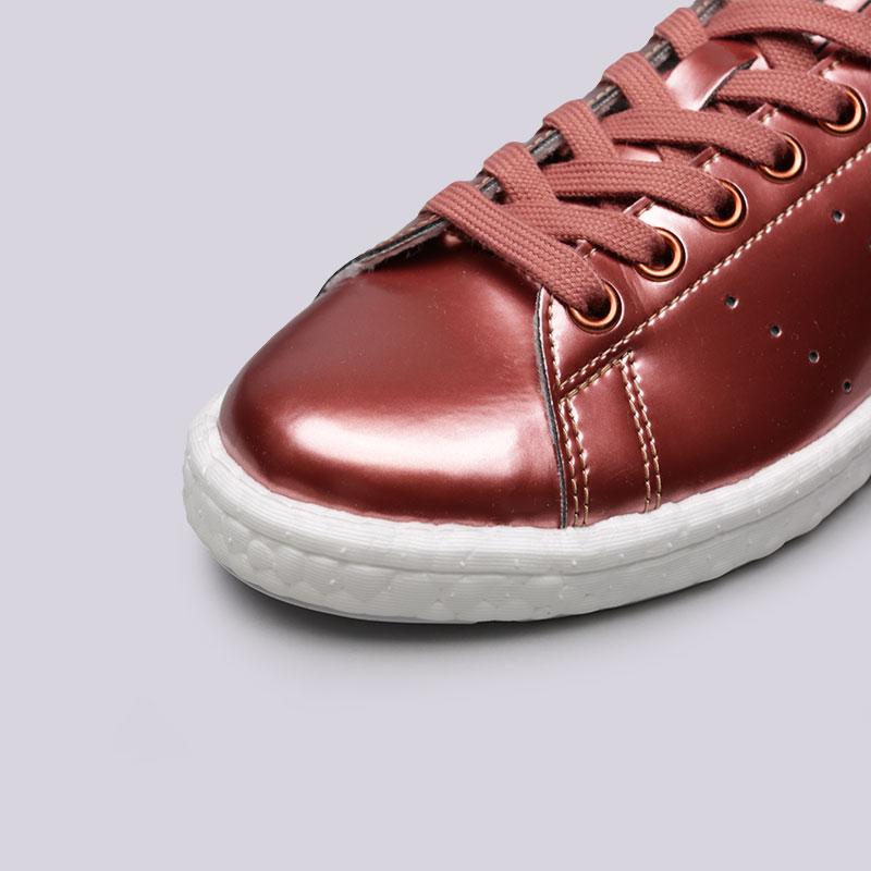 женские бордовые  кроссовки adidas stan smith w BB0107 - цена, описание, фото 5