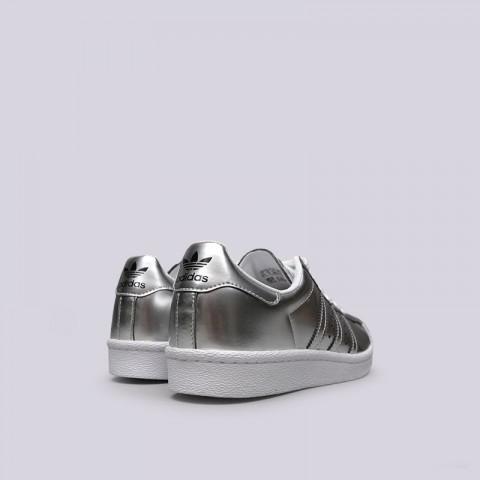женские серебряные  кроссовки adidas superstar w BB2271 - цена, описание, фото 3