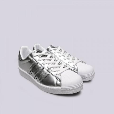 женские серебряные  кроссовки adidas superstar w BB2271 - цена, описание, фото 4