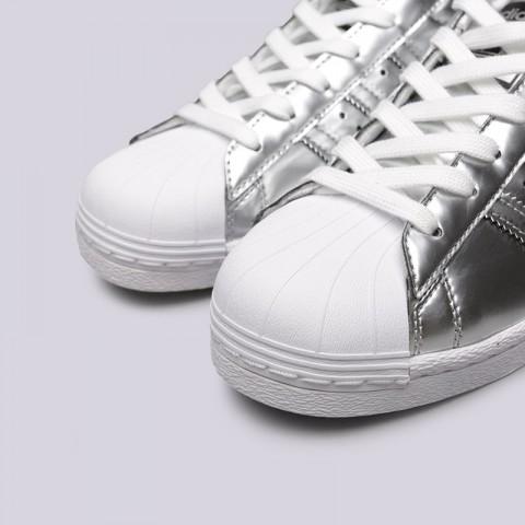 женские серебряные  кроссовки adidas superstar w BB2271 - цена, описание, фото 5