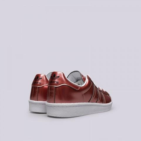 женские бордовые  кроссовки adidas superstar w BB2270 - цена, описание, фото 3