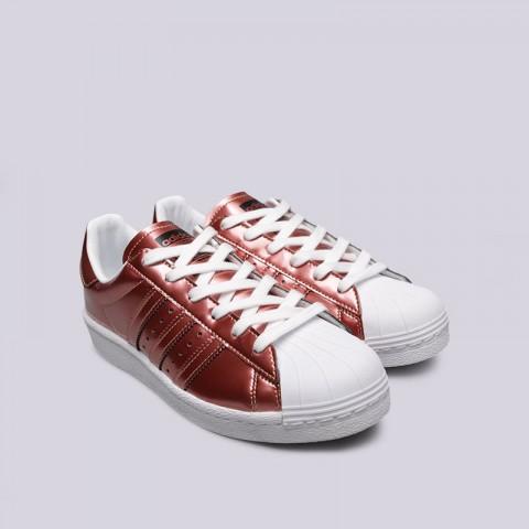 женские бордовые  кроссовки adidas superstar w BB2270 - цена, описание, фото 4