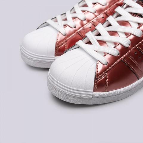 женские бордовые  кроссовки adidas superstar w BB2270 - цена, описание, фото 5