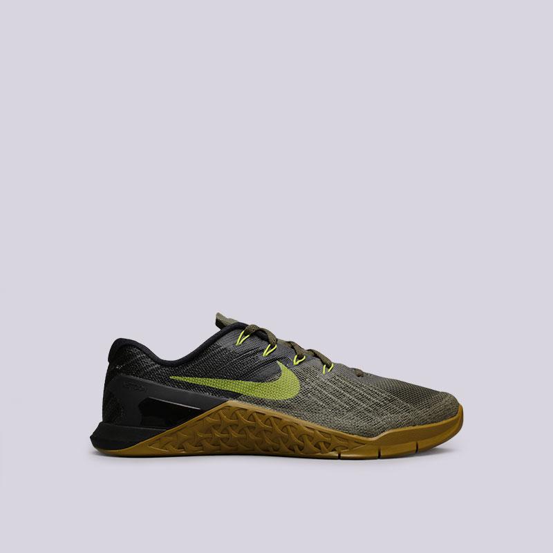 Кроссовки Nike Metcon 3Кроссовки lifestyle<br>Текстиль, пластик, резина<br><br>Цвет: Оливковый<br>Размеры US: 8;8.5;9;9.5;10;10.5;11;11.5;12<br>Пол: Мужской