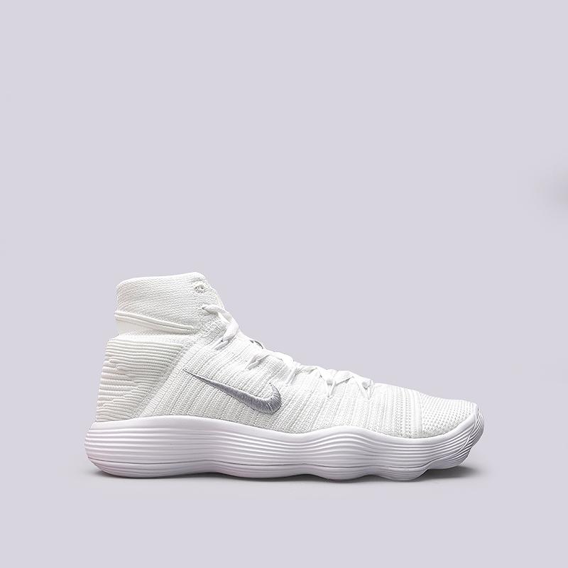 Кроссовки Nike Hyperdunk 2017 FlyknitКроссовки баскетбольные<br>Текстиль, резина<br><br>Цвет: Белый<br>Размеры US: 12.5<br>Пол: Мужской