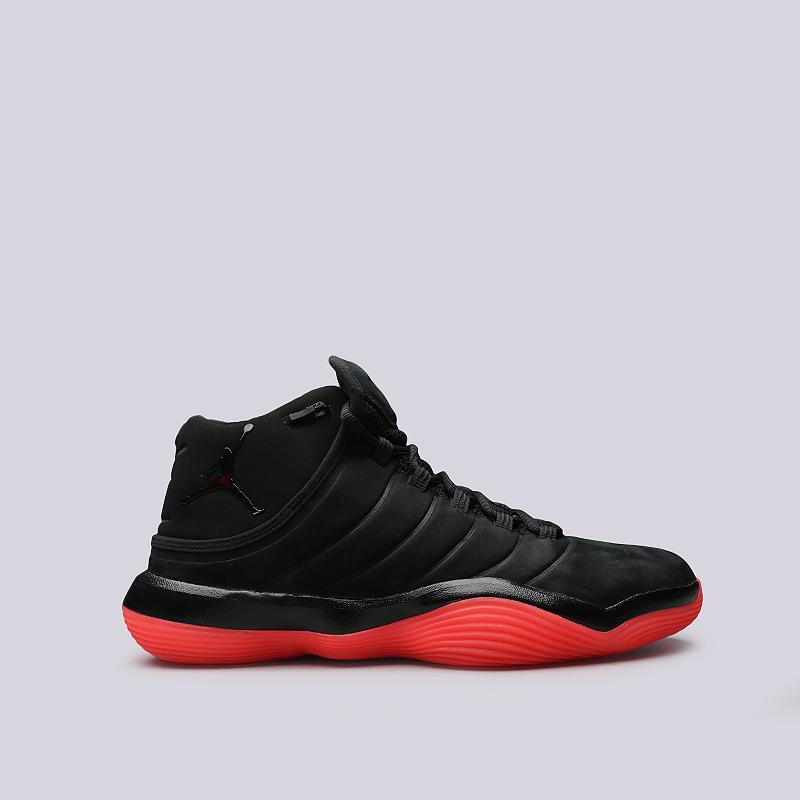 Кроссовки Jordan Super.Fly 2017Кроссовки баскетбольные<br>Кожа, текстиль, резина<br><br>Цвет: Черный<br>Размеры US: 9;9.5;10;10.5<br>Пол: Мужской