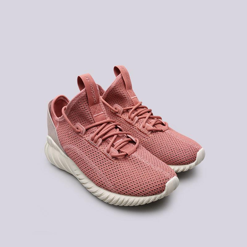 Купить женские розовые  кроссовки adidas tubular doom sock pk w в магазинах Streetball изображение - 4 картинки