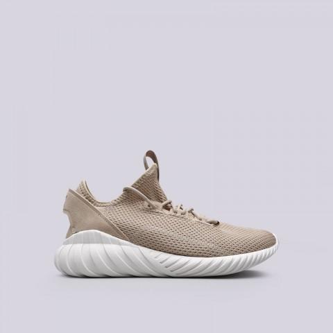 мужские бежевые  кроссовки adidas tubular doom sock BY3562 - цена, описание, фото 1