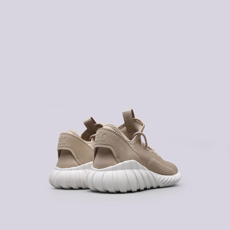 мужские бежевые  кроссовки adidas tubular doom sock BY3562 - цена, описание, фото 3