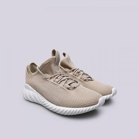 мужские бежевые  кроссовки adidas tubular doom sock BY3562 - цена, описание, фото 4