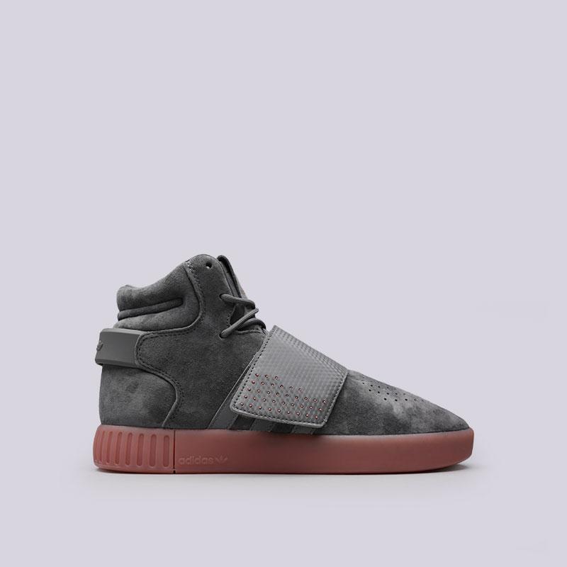 Кроссовки adidas Tubular Invader StrapКроссовки lifestyle<br>Кожа, синтетика, текстиль, резина<br><br>Цвет: Серый<br>Размеры UK: 11<br>Пол: Мужской