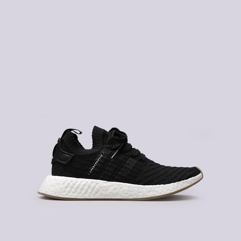 мужские черные  кроссовки adidas nmd_r2 pk BY9696 - цена, описание, фото 1