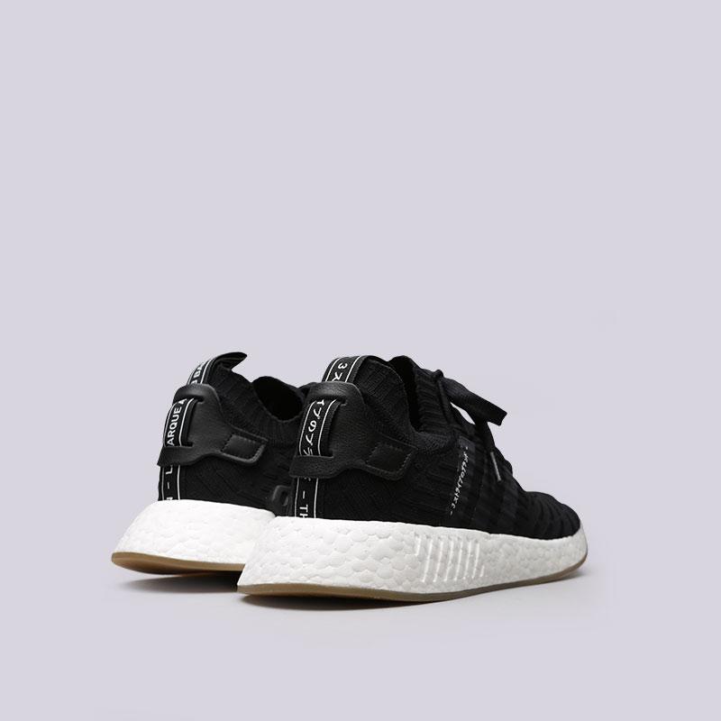 Купить мужские черные  кроссовки adidas nmd_r2 pk в магазинах Streetball изображение - 3 картинки