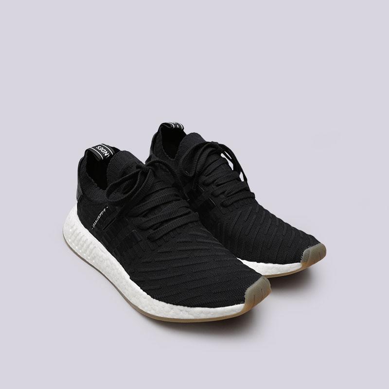 мужские черные  кроссовки adidas nmd_r2 pk BY9696 - цена, описание, фото 4