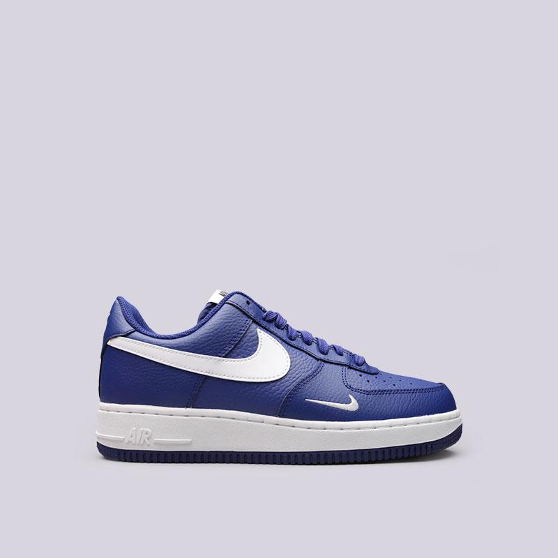 Кроссовки Nike Air Force 1Кроссовки lifestyle<br>Кожа, синтетика, текстиль, резина<br><br>Цвет: Синий<br>Размеры US: 10.5;11.5;12<br>Пол: Мужской