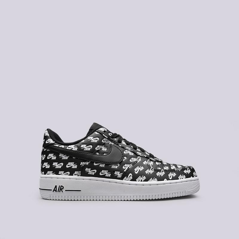 Кроссовки Nike Air Force 1 07 QSКроссовки lifestyle<br>Синтетика, текстиль, резина<br><br>Цвет: Черный<br>Размеры US: 9.5;10.5<br>Пол: Мужской