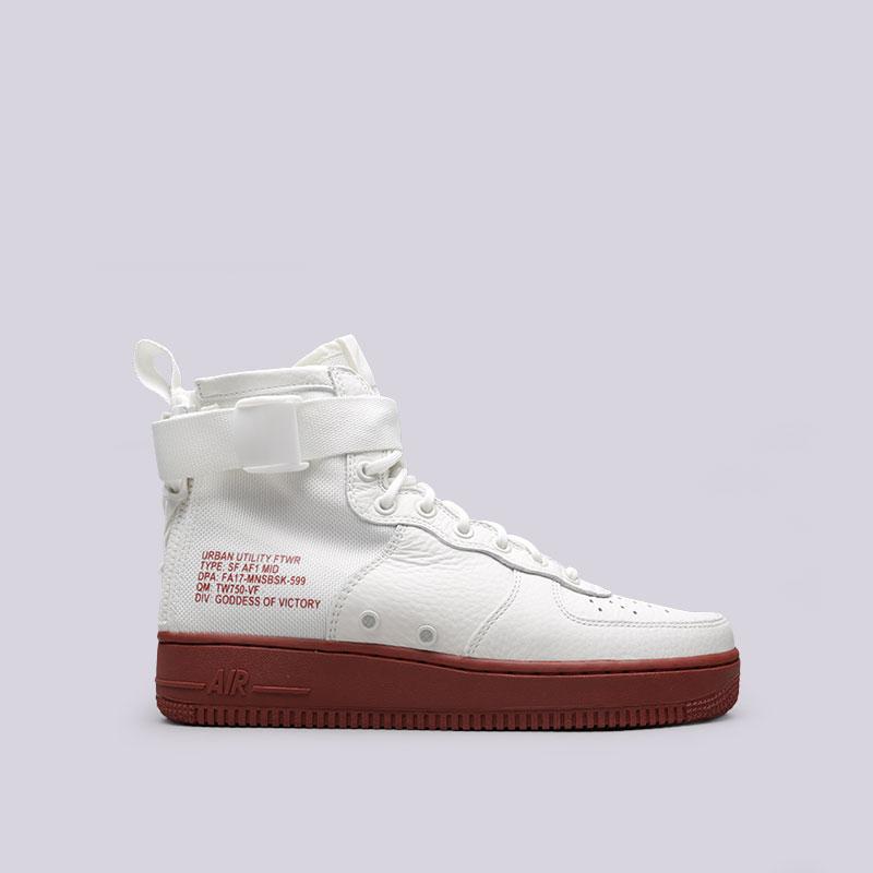 Кроссовки  Nike SF Air Force 1 MidКроссовки lifestyle<br>Кожа, текстиль, резина<br><br>Цвет: Белый<br>Размеры US: 8;9;9.5<br>Пол: Мужской