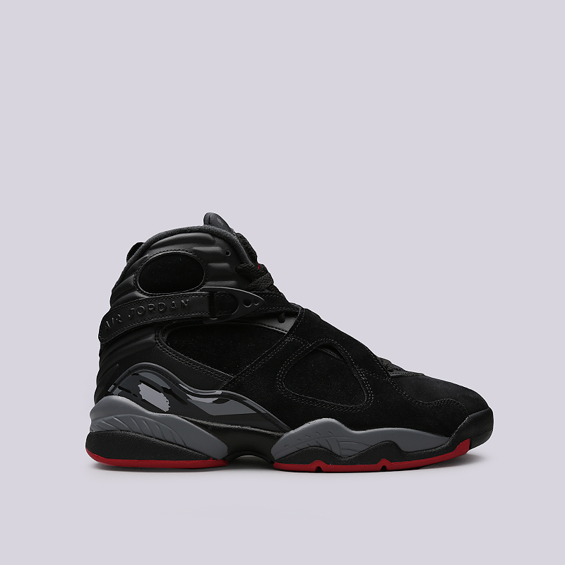 Кроссовки Jordan VIII RetroКроссовки lifestyle<br>Кожа, синтетика, текстиль, резина<br><br>Цвет: Черный<br>Размеры US: 8;8.5;9;10;10.5;12<br>Пол: Мужской
