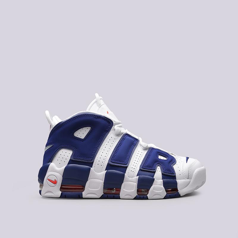 Кроссовки Nike Sportswear Air More Uptempo `96Кроссовки lifestyle<br>Кожа, синтетика, текстиль, резина<br><br>Цвет: Синий, белый<br>Размеры US: 9<br>Пол: Мужской