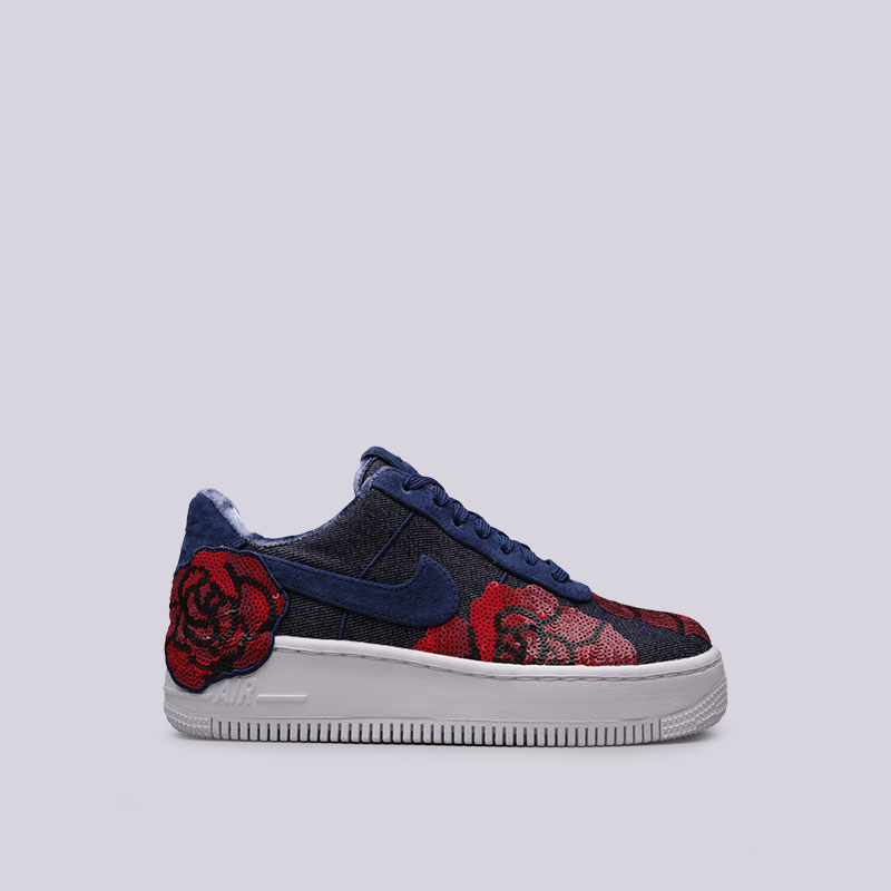 Кроссовки Nike WMNS Air Force 1 Upstep LXКроссовки lifestyle<br>Текстиль, кожа, пластик, резина<br><br>Цвет: Синий, красный<br>Размеры US: 5;5.5;10.5<br>Пол: Женский