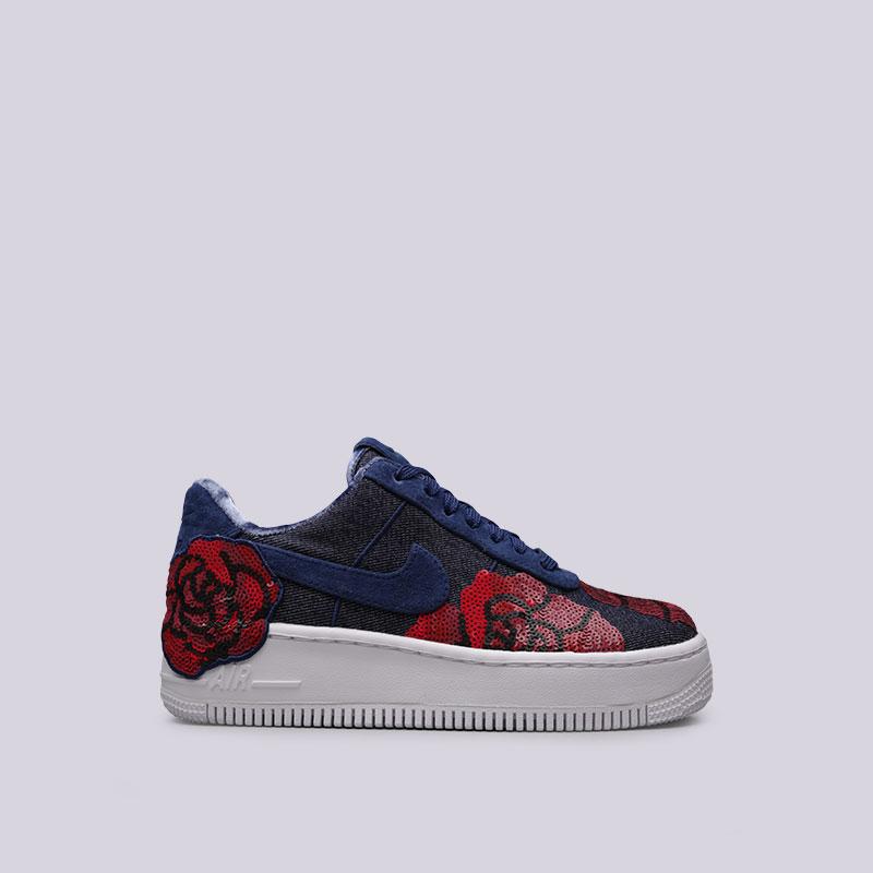 Кроссовки Nike Sportswear WMNS Air Force 1 Upstep LXКроссовки lifestyle<br>Текстиль, кожа, пластик, резина<br><br>Цвет: Синий, красный<br>Размеры US: 5;5.5;7.5;10.5<br>Пол: Женский