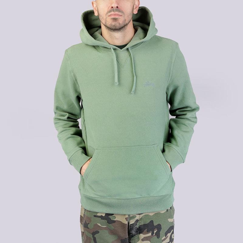 Толстовка Stussy Stock Logo HoodТолстовки свитера<br>Хлопок<br><br>Цвет: Зелёный<br>Размеры US: S;M;L;XL<br>Пол: Мужской