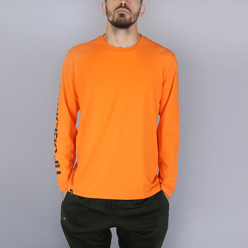 Лонгслив Hard ПробежкаФутболки<br>100% хлопок<br><br>Цвет: Оранжевый<br>Размеры : S;M;L;XL;2XL<br>Пол: Мужской