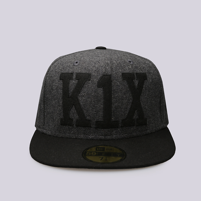 Кепка K1X Simple Type WoolКепки<br>60% шерсть, 40% вискоза<br><br>Цвет: Серый, черный<br>Размеры US: 7 1/4;7 3/8