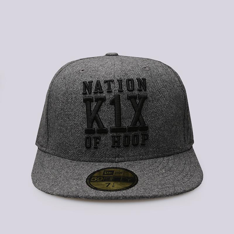 Кепка K1X Noh WoolКепки<br>60% шерсть, 40% вискоза<br><br>Цвет: Серый<br>Размеры US: 7 1/8